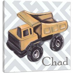 Vintage Toy Dump Truck Canvas Wall Art