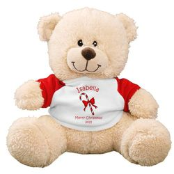 Personalized Candy Cane Teddy Bear