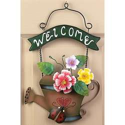 Watering Can Welcome Sign