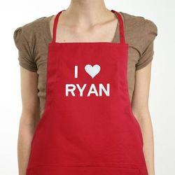 Personalized I Love You Apron