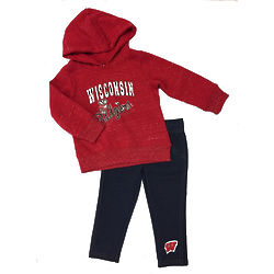 Infant's Wisconsin Badgers Hoodie and Leggings