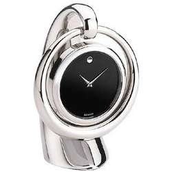 Small Silver Hanging Clock