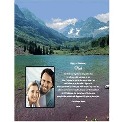 Personalized Poem with Mountain Scene Print