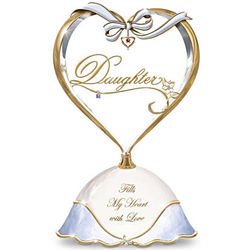 Treasured Daughter Porcelain Music Box