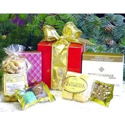 Red Holiday Gourmet Gift Box