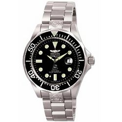 Men's Invicta Automatic Grand Diver Black Dial Watch