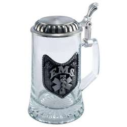 Engraved Glass EMS Stein