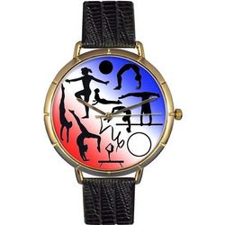 Gymnastics Print Watch with Italian Leather Band