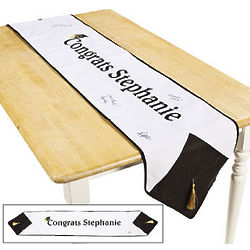 Autograph Graduation Table Runner