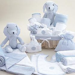 Deluxe New Baby Boy Basket