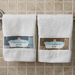 Personalized Bathtub Character Hand Towel