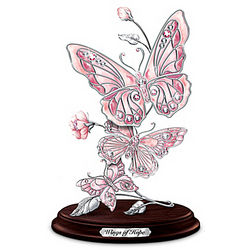 Wings of Hope Breast Cancer Awareness Butterfly Sculpture
