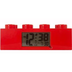 Red Lego Brick Alarm Clock