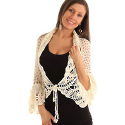 Crochet Knit Long Sleeve Cardigan