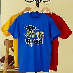 Personalized School Colors Graduation T-Shirt