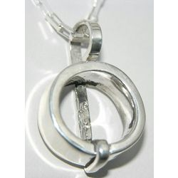 Handmade Sterling Silver Circle Pendant