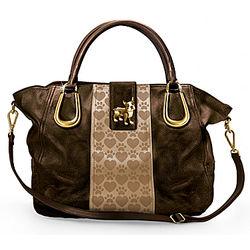 Faux Leather Boston Terrier Love Handbag