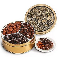 Chocolate Covered Nut Trio Gift Tin