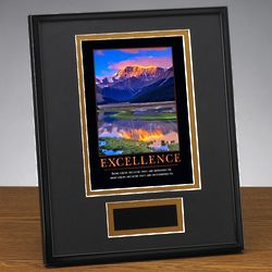 Excellence Mountain Framed Award