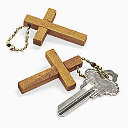 Wooden Cross Key Chains