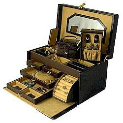 Medium Croco Leather Jewelry Chest