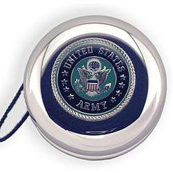 Engraved Army Insignia Nickel Plated Yo-Yo