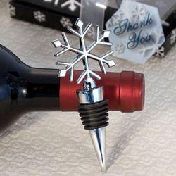 Snowflake Design Wine Bottle Stopper Favors