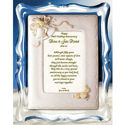 Personalized 50th Wedding Anniversary Poem and Musical Frame