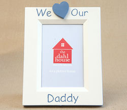 Handpainted Picture Frame - We Heart Daddy