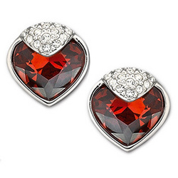 Swarovski Crystal Oceanic Earrings in Red