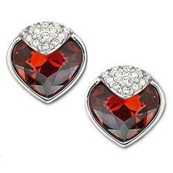 Swarovski Crystal Oceanic Earrings in Red