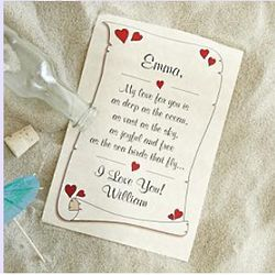 Valentine Message in a Bottle