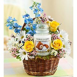 Yankee Soft Blanket Candle and Flower Basket