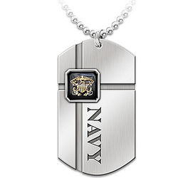 For My Sailor Engraved Dog Tag
