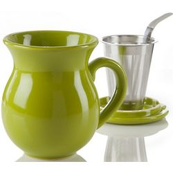 Curve Green Infuser Tea Mug