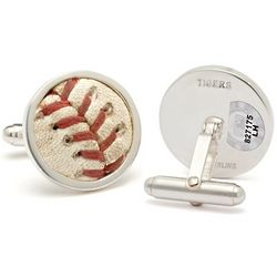 MLB Authenticated Game Used Baseball Stitches Cuff Links