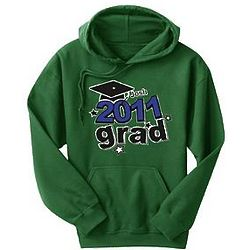Personalized School Colors Graduation Hoodie