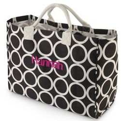 Black Ring Around Mod Tote Bag