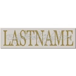 Family Established Personalized Name Sign