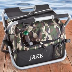 Personalized Camouflage Sit n' Sip Cooler Seat