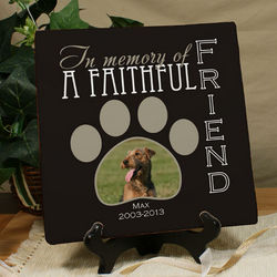 Personalized Faithful Friend Photo Memorial Canvas