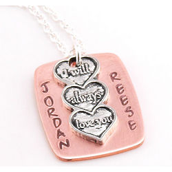 I Will Always Love You Personalized Hand Stamped Necklace
