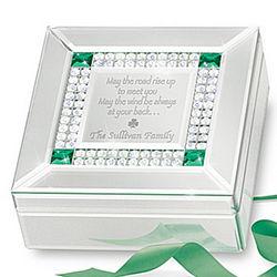 Irish Blessing Personalized Mirrored Music Box