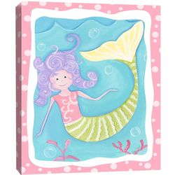 Mandy the Mermaid Canvas Wall Art