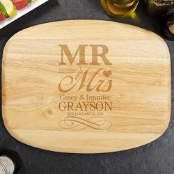 Wedding Day Personalized Wood Cutting Board