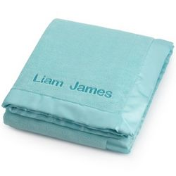 Aqua Fleece Baby Blanket
