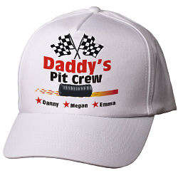 Personalized Pit Crew Stars Hat