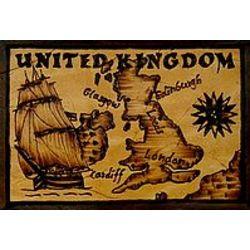 United Kingdom Map Leather Photo Album