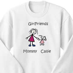 Personalized Cartoon Family Characters Youth Sweatshirt