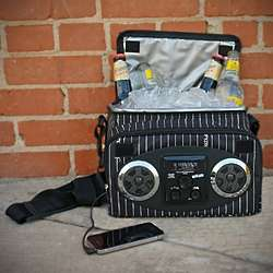 Pin Stripe Chillin iPod Ready Radio Cooler